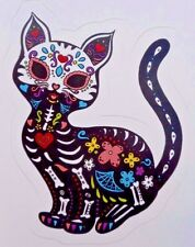 Dia De Los Muertos Gato Negro Black Cat Day Of The Dead Sticker Decal New