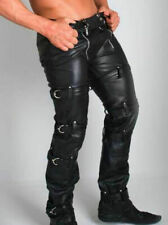 New Genuine Leather Chaps Pants Carpenter Pant Gay Trousers Restraint Fetish