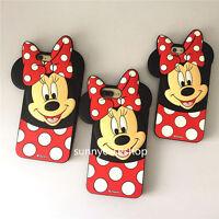 Cute 3D cartoon Polka Dot minnie bow rubber soft case cover for iphone 7 6S plus