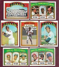 1972 Topps Atlanta Braves Complete Team Set Aaron Cepeda Baker Carty NRMT (34)