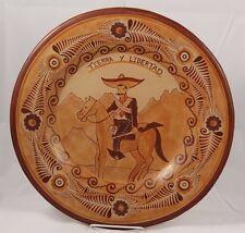 Mexican Ceramic Plate Master Potter Pablo Pajarito Folk Art Collectible Zapata