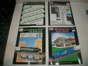 Lot of 4 ATLAS HO LAYOUTS KING SIZE PLANNING STEP BY STEP BOOKS