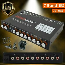 Audiobank EQ7 1/2 Din 7 Band Car Audio Equalizer EQ w/ Front, Rear + Sub Output