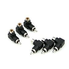 6 pcs 90 Degree Right Angle RCA Phono Jack Plug Male to Female Socket Adapter