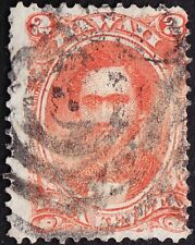 Hawaii - 1864 - 2 Cents Rose Vermilion # 31 w Scarcity 2 Patent Cancel Very Rare