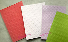 NEW ✿ Pretty Tiny Double Hearts Embossing Folder For Cuttlebug & Sizzix ✿