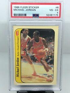 1986-87 Fleer Michael Jordan Rookie Sticker #8! PSA 4!