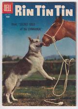 RIN TIN TIN 15 (1956 Dell) TV dog & horse; Photo cover; FINE 6.0