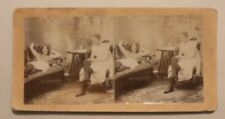 Antique Risque Stereoview, Ladies in Lingerie, and Taking Off Stockings