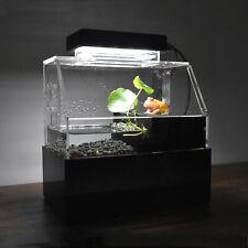 Fish Tank Aquarium Water Filtration Small Tank Led Lamp white/black optional