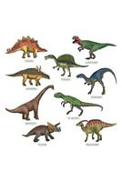 Different Dinosaurs Types Illustration Art Print Mural Poster 36x54 inch