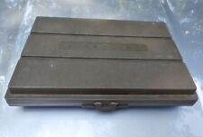 Vintage Brown Airequipt 2X2 Slide File Box 30 Compartments