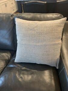"Restoration Hardware 24""Euro Belgian Linen Pillow Covers Shams Heavyweight Set 2"