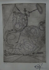 Limited edition etching, Surrealism Horseman, signed Salvador Dali with DOCS
