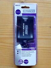 Schwaiger HDMI zu Scart TV Konverter Adapter 1080P/720P HDMSCA 02 + Netzteil