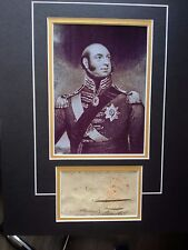 DUKE OF KENT & STRATHEARN - FATHER OF QUEEN VICTORIA - SIGNED PHOTO DISPLAY