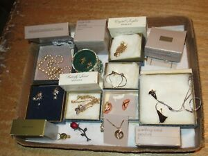 Jewelry Lot Vintage AVON Necklace Earrings Butterfly Crystal & More (49G)