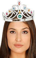 Señoras Plata Con Cuentas Corona Reina Princesa Disfraz Despedida De Soltera