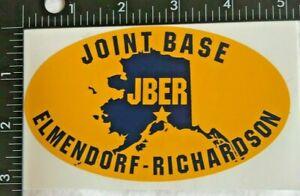 U.S.A.F. & US ARMY JBER JOINT BASE ELMENDORF - RICHARDSON ALASKA DECAL (DC-3)