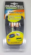 DURACELL RECHAGEABLE VALUE CHARGER CEF14DX2 INCLUDES 2 AA NIMH BATTERIES SEALED