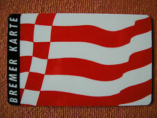BREMER KARTE BSAG / 01_09-1986 / Speckflagge / Abo-Monatskarte - unbenutzt