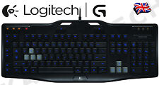 Logitech G105 Illuminated LED Backlight PC Gaming Media Macro USB UK Keyboard