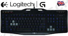 Logitech G105 Illuminated LED Backlight PC Gaming Media Macro USB UK clavier