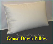 GOOSE DOWN SURROUND  PILLOW - STANDARD SIZE- FIRM SUPPORT  100% COTTON CASING