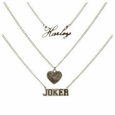 OFFICIAL DC COMICS SUICIDE SQUAD HARLEY QUINN HEART THE JOKER METAL NECKLACE