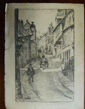 "FRANK ARMINGTON "" rue bourder , honfleur "" etching , limited edition 4/30"