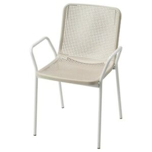 Brand New IKEA TORPARO Armchair for Indoor and Outdoor in White/beige 904.207.61