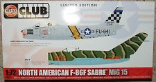 AIRFIX Club Kit A82011 - 1:72nd Scale North American F-86F Sabre and MiG-15