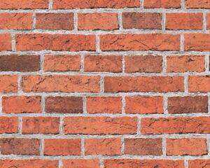 Tapete Backsteinmauer rotorange 7798-16 (1,33€/1qm)