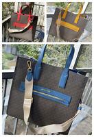 Michael Kors Women Large PVC Leather Shoulder bag  Handbag Crossbody Tote Brown