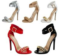 Roslyn-28 New Fashion Stiletto Party Prom 4 inch High Heel Buckle Women's Shoes