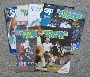 7 Tottenham Hotspur / Spurs Home Football Programmes – 1980-2010 – All Listed