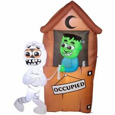 MONSTER OUTHOUSE FUUNY LIGHT UP AIRBLOWN HALLOWEEN YARD INFLATABLE 6.5 ' TL