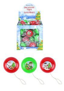 3 - 36 Xmas Christmas Yo-yo's Retro stocking party bag filler yoyo return top
