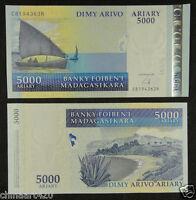 Madagascar Paper Money 5000 Ariary 2009 UNC