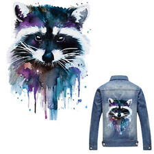 Raccoon Patches T-shirt Heat Transfer Sticker Washable Clothing Iron On Applique