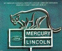 Lrg. 1977 Mercury Brochure: COUGAR/XR-7,GRAND MARQUIS,COMET,BOBCAT,Station Wagon