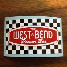 West Bend Power Bee 700 Vintage Engine Decal Go Kart Mini Bike