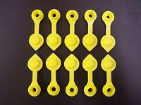 10x Yellow Replacement Gas Can Fuel Jug Vent Caps Plug Acc Eagle Spouts U6J4