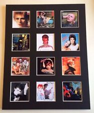 "DAVID BOWIE 14"" BY 11"" LP COVERS PICTURE MOUNTED READY TO FRAME"