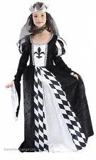 Niña Medieval Tudor Mujer Reina Disfraz 4-6 años NUEVO
