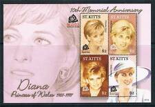 St Kitts 2007 Diana 10th Memorial 4v sheet SG938/40 MNH