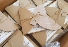 Rustic wedding invitations handmade in Australia 25 printed invitation cards