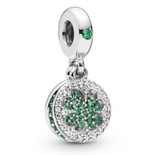 Genuine PANDORA Green Dazzling Clover Pendant Charm Silver S925 ALE 797906NRGMX