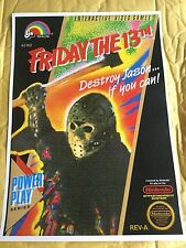 Nes Friday The 13th Jason Game Poster Print In A3 #retrogaming This A Poster