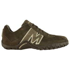 Merrell Sprint Blast Mens Trainers Brown Grey Leather Shoes Size UK 7-12